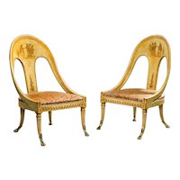 Pair Early 19th Century Decorated Chairs