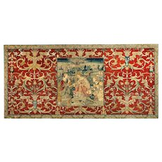 Antique embroidery Susanna and the Elders