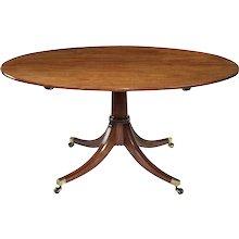 18th Century Mahogany Oval Dining Table