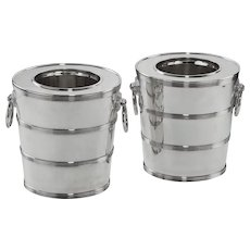 Silver wine coolers