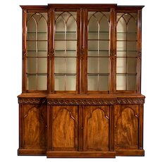 19th Century Gothic Bookcase
