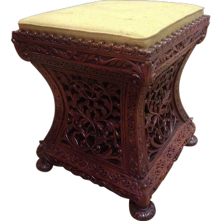 Western Indian blackwood seat