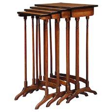 Antique nest of four tables