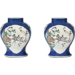 19th Chinese porcelain lamps