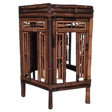 Rare 19th century Brighton Pavilion style bamboo table