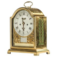 18th Century Metal Cased Travelling Clock by Chandler