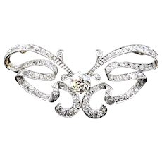 Extraordinary Belle Epoch Diamond Erfly Brooch With 1 75 Center Smaller Diamonds Totaling An
