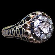 *The Morgana* Early 19th Century Diamond and Enamel Ring (size 8.5)