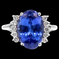 Tanzanite 5.58 ctw Diamond 14k White Gold Ring