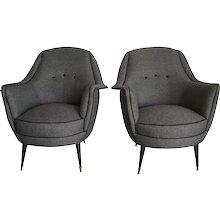 Mid Century Italian Lounge Chairs