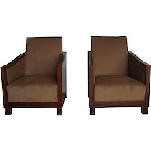 20th Century Art Deco Club Chairs