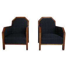 20th Century Art Deco Club Chairs