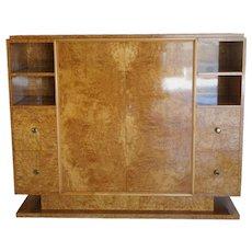20th Century Trulia Burl Wood Cabinet