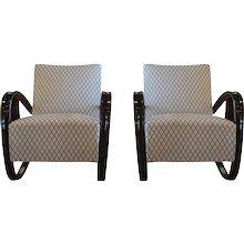 Beechwood Pair Of Lounge Chairs