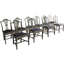 19th Century Set Of Swedish Dining Chairs