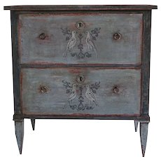 19th Century Gustavian Pair Of Chests