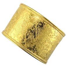 24K Himalayan Cuff Bracelet