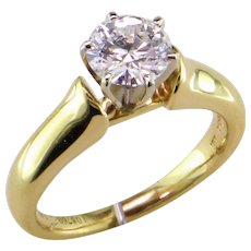 1 ct. D Internally Flawless Diamond 18K Solitaire