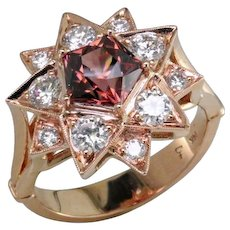 3.47 ct. Zircon & Diamond Star Ring