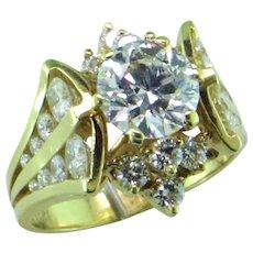 Lazare Kaplan 1.37 ct Diamond in 18K Designer Ring