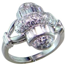 Art Deco Diamond Platinum Ring