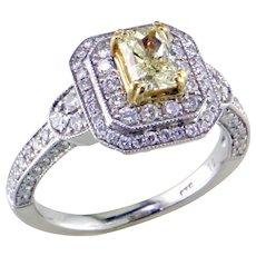 Fancy Light Yellow Diamond 14K&18K Gold Ring