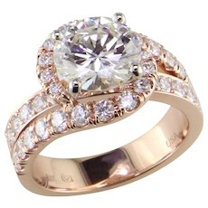 3 1/2 ct Diamond 18K Rose Ring