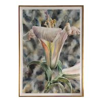 Anstis Lundy Lily Watercolor 60""