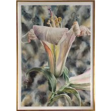 """Anstis Lundy Lily Watercolor 60"""""""