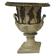 Large Figural Urn Greek Revival Metlach 16""