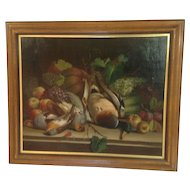 Corregio Still Life with Game Oil Painting 19th Century