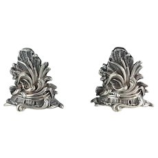 Pair of French Menu Holders Sterling