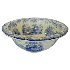 Blue Staffordshire Punch Bowl Genevese 22""
