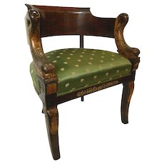 1st Empire Dolphin Tub Chair Ormolu Mounts