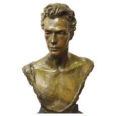 Bronze Bust Ballet Dancer Anthony Doelll by Enzo Plazzotta