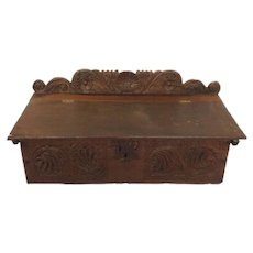 English Oak Bible Box 17th Century
