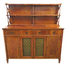 "Fine English Regency Chiffonier 48"" Wide"