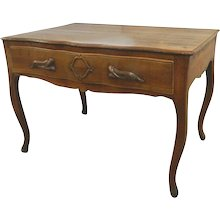French Walnut Desk or Dressing Table 18th Century