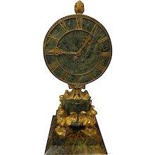 Gilt Bronze Clock EF Caldwell