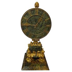 Gilt Bronze Clock EF Caldwell