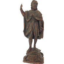 Carved  Standing Male Figure 18th Century