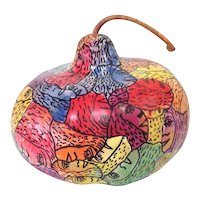 Howard Finster Faces Pumpkin 1995