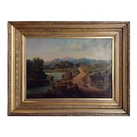 Hudson River Valley Townscape Early 19th Century