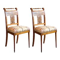 Pair of Biedermeier Urn Side Chairs 1850's