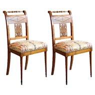 Pair of Biedermeier Urn Side Chairs 1850's