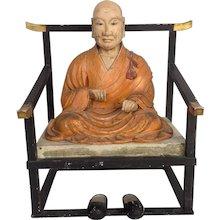 Antique Seated Buddha Japan 19th Century