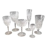 Saint Louis Florence Pattern Cut Crystal Stems 48 Pieces