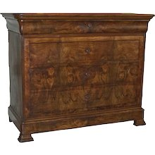 Louis Philippe Walnut Commode