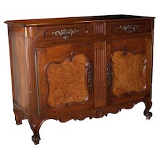 18th Century Louis XV Period Walnut and Elm Buffet