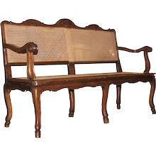 Louis XV French Provincial Caned Canape
